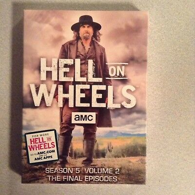 Hell on Wheels Fifth Season 5 Volume Part Two 2 THE FINAL EPISODES (DVD 2-Disc)