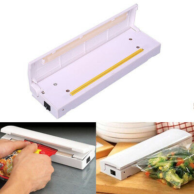 Heat Impulse Sealing Machine Poly Tubing Plastic Max 6.3'' Packing Bag Sealer