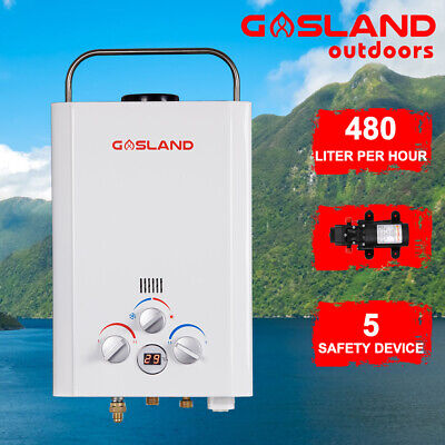 MADEMSA Gas Hot Water Heater Portable Outdoor Camping Instant Shower Heater