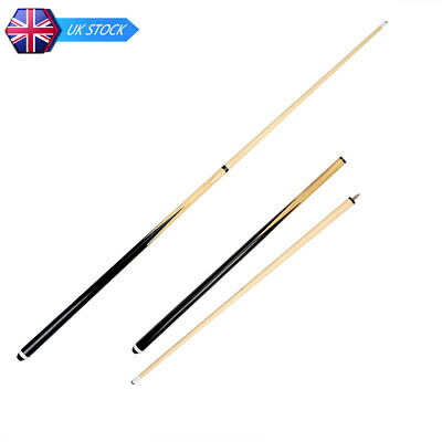 """2 sets 57"""" Ash Wooden Snooker Pool Cue With Screw Tips Gift 2 Sections"""