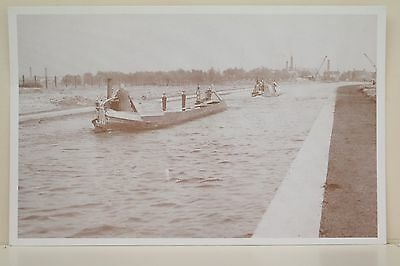Potteries Boats on Marston diversion. Reproduction postcard