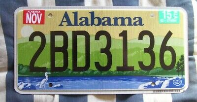 ALABAMA green mountains AMERICAN LICENSE NUMBER PLATE #ALgreen