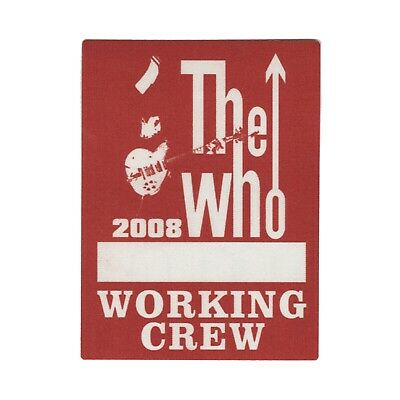 The Who authentic 2008 Greatest hits tour satin Backstage Pass band crew red