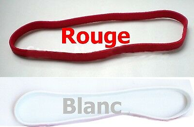 Duo Elastique Cheveux Headband Stretch 100*400 mm Rouge Blanc Sport Mixte Hair