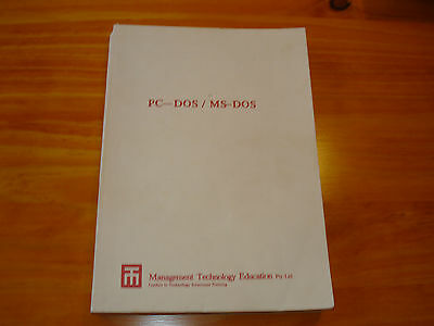 PC-DOS / MS-DOS Course book by Les Bell