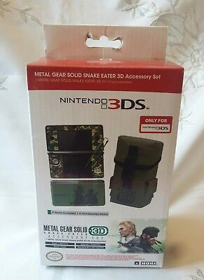 Nintendo 3DS Metal Gear Solid Accessory Pack Case Bag Snake Eater New Rare