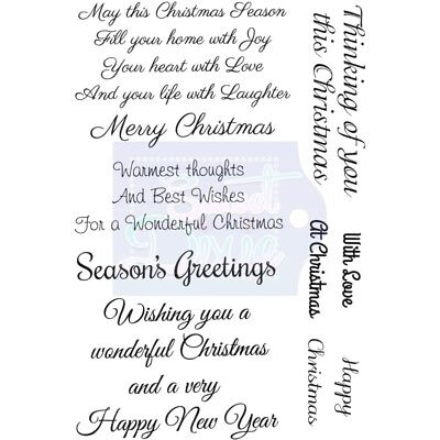 Sweet Dixie Clear Stamp Set MAY THIS CHRISTMAS SEASON Festive Merry Sentiments