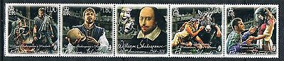 Pitcairn Islands 2016 William Shakespeare Strip Mnh 4+Label