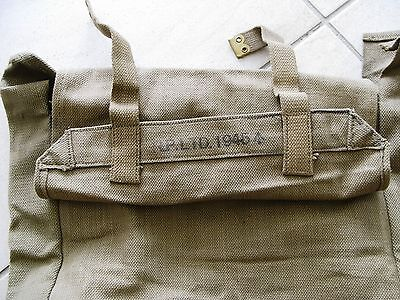Australian/Canadian WWII dated Pattern 37 large back haversack with straps.