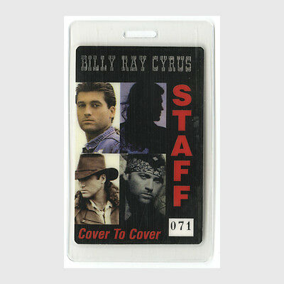 Billy Ray Cyrus authentic 1997 Laminated Backstage Pass Cover to Cover Tour