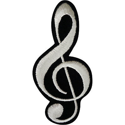 Music Note Patch Iron Sew On Clothes Bag Embroidered Badge Embroidery Applique