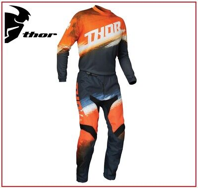 Completo Moto Cross Quad Enduro Thor Pulse Level Navy Yellow Ufficiale 2018