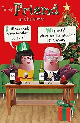 Friend - Humorous Funny Wine Christmas New Greeting Card
