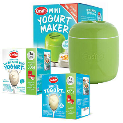 Mini Yogurt Maker (500g)- Apple Green - Plus 1 Box Pineapple & Coconut