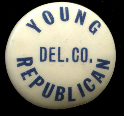 Delaware County Pa Young Republican Pin Button Pinback
