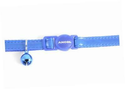 Gloss Reflective Cat Collar with safety buckle Blue