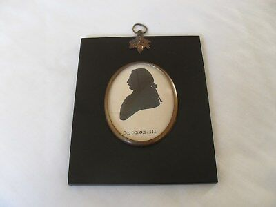 Framed antique silhouette of George 111