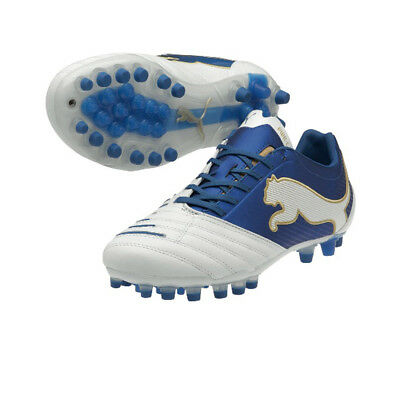 Puma Mens Powercat Football Boots White Astro Turf Synth Grass Soccer Boot UK 10