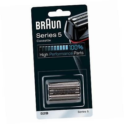Braun 52B Series 5 Shaver Replacement Foil and Cassette Cartridge - Black