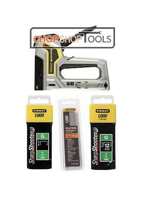 Stanley Stapler & Nail Gun Complete With 2000 Staples and 1000 Brads 0-TR350