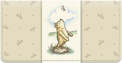 Classic Pooh Leather Leather Checkbook Cover
