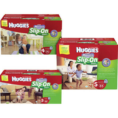 HUGGIES Little Movers Slip On Baby Diapers Size 3, 4, 5, 6 CHEAP!!! NO TAX