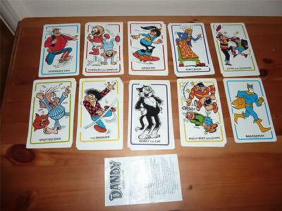 Dandy Card Game 36 Cards + Rules - D C Thomson & Co Ltd - 1989