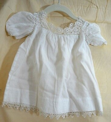 Charming Antique Baby Dress With Hand Tatting Tt148