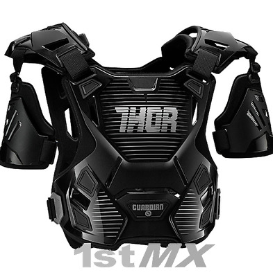 Thor Guardian Motocross Off Road Chest Protector Armour Black Silver Kids XXS XS