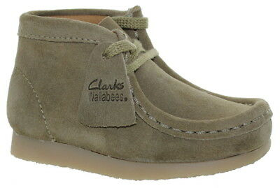 Clarks Toddler's BT-First Wallabee Ankle Boots Sand Suede