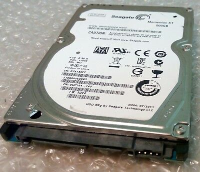 "500GB SEAGATE MOMENTUS XT ST95005620AS 2.5"" SATA III laptop hard disc drive"
