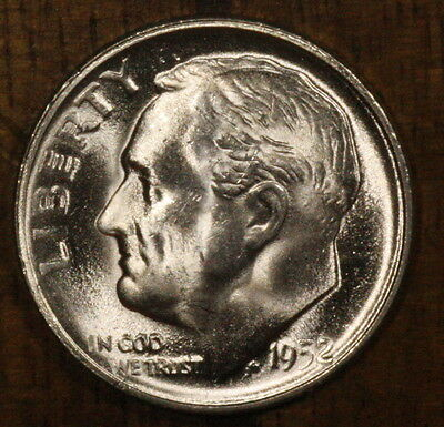 1952 S CH BU Roosevelt  Dime FREE SHIPPING