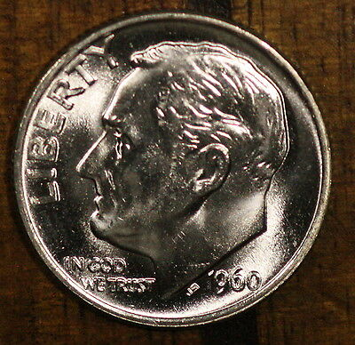 1960 P Roosevelt Dime 10C  CH BU  LUSTER! 90% Silver US Coin