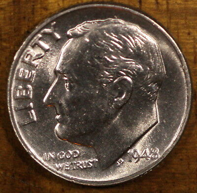 1948 P Roosevelt Dime CH BU LUSTER! 90% Silver US Coin
