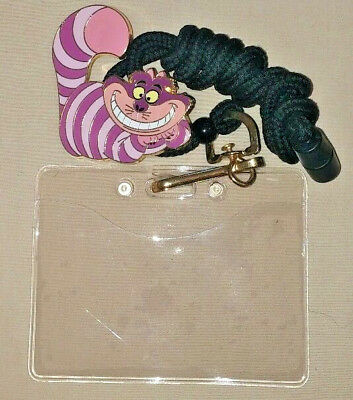 Disney WDW Cast Member Exclusive Cheshire Cat Bolo Style ID Holder Lanyard