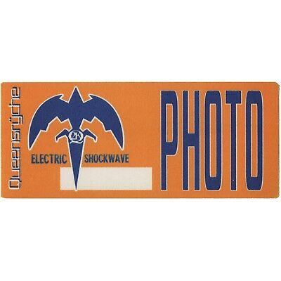 Queensryche authentic 1999 Electric Shockwave Tour satin Backstage Pass photo