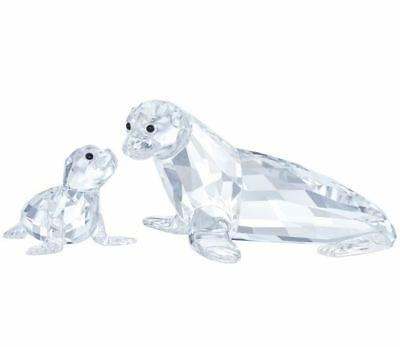 Swarovski Crystal Sea Lion Mother with Baby # 5275796 New 2017 IN HAND