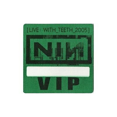 Nine Inch Nails authentic 2005 Live: With Teeth Tour Backstage Pass VIP green