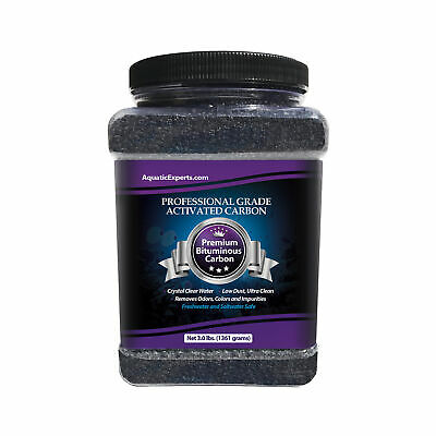Premium Activated Carbon Aquarium Filter Charcoal Media - Remove odors - 3.0 lbs
