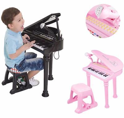 Kids Electronic Grand Piano Musical Instrument Keyboard Organ Toy Microphone