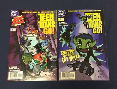 Teen Titans Go #1 & 2 : Dc Comics 2004 : Cartoon Network Tv Show