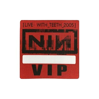 Nine Inch Nails authentic 2005 Live: With Teeth Tour Backstage Pass VIP red