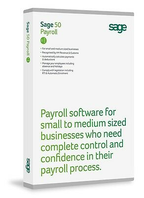 SEALED SAGE 50 Payroll CD 1 User Full edition Up To 15 Employees RRP £220