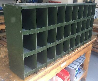 Vintage Steel industrial storage pick / parts / bolt bin, 30 compartments.