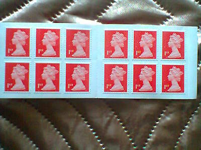 GB 2013 Revised Colours 12 X First Class Stamp Booklet