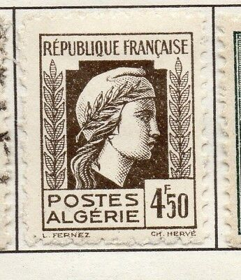 Algeria 1944 Early Issue Fine Mint Hinged 4.50F. 170614