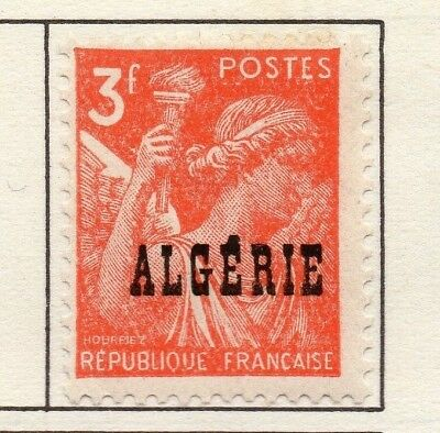 Algeria 1945-48 Early Issue Fine Mint Hinged 3F. Optd 170628