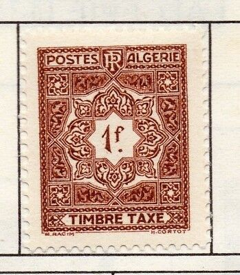 Algeria 1947-55 Early Issue Fine Mint Hinged 1F. 170732