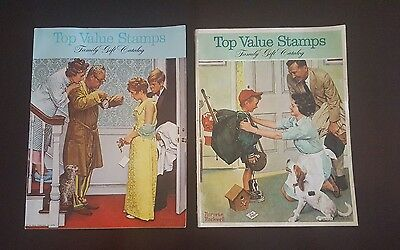 Lot of Top Value Stamps Family Gift Catalog Norman Rockwell  1968 & 1970