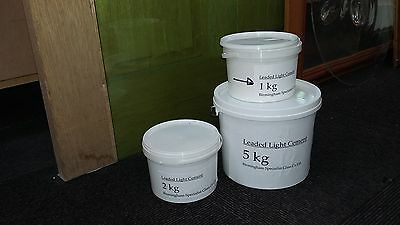 leaded light cement 1kg (incl. instruct. & latex gloves)